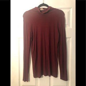 Burgundy Mossimo turtleneck sweater